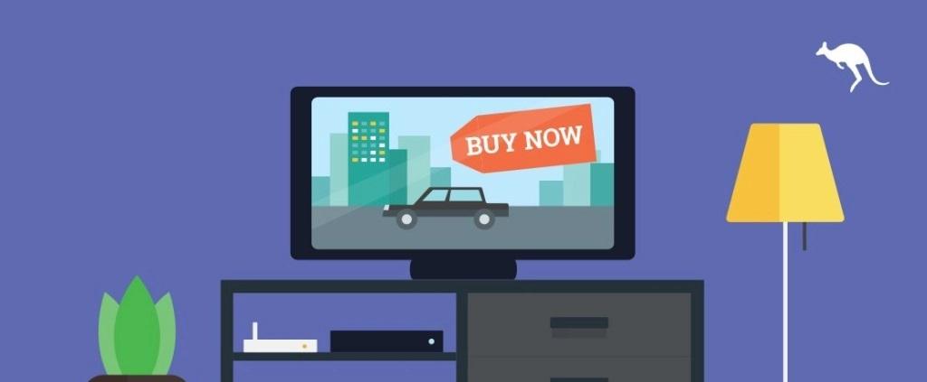 التسويق عبر شاشات التلفزيون