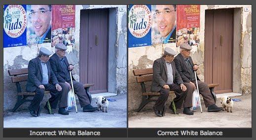 تعيين توازن اللون الأبيض في الكاميرا يدويًا
